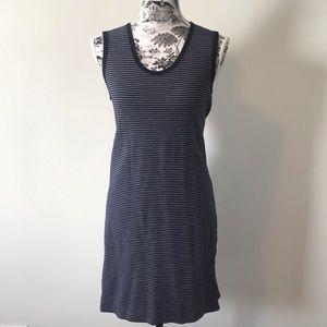 J Crew blue & white striped tank dress